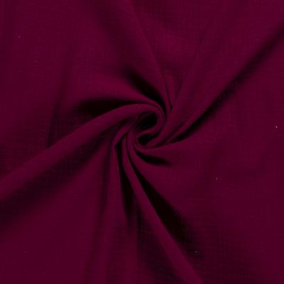 Tissus Double Gaze Couleur Bordeaux