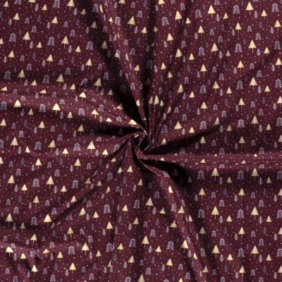 Tissu de Noël Sapins
