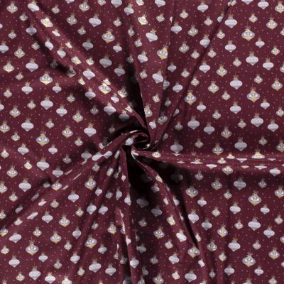 Tissu Motif Boules de Noël