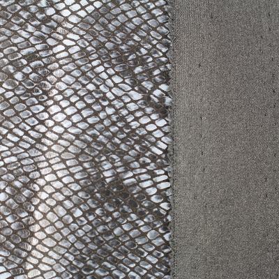tissu Scuba daim Motif Python couleur Gris