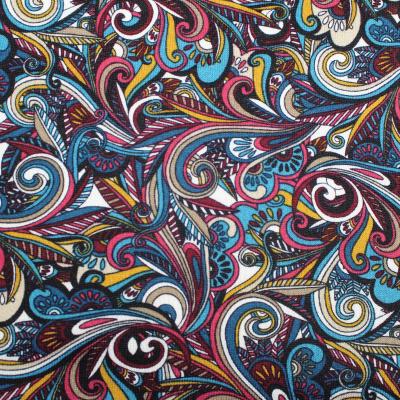 Tissus Anna Maille Extensible Cachemire Multicolore