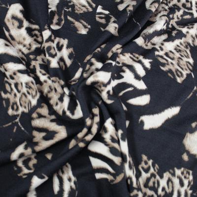 Anna Maille Extensible Fond Noir Motif léopard