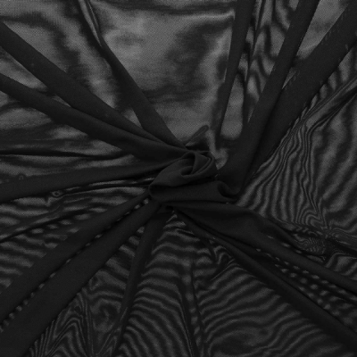 Tissu lingerie Resille Noir