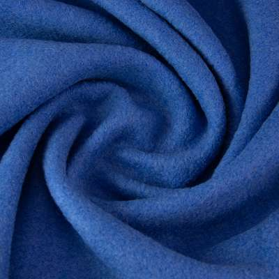 Tissu Lainage Bouclette Léger  Bleu Roi