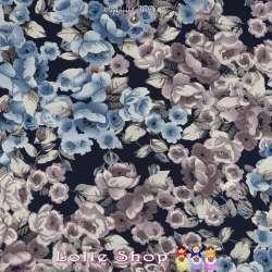 Jersey Viscose Imprimé Modèle KAOMA Ton Bleu