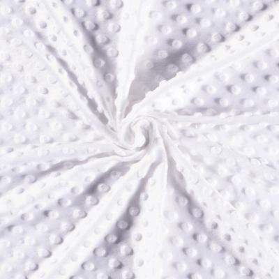 Tissu Velours Minky  blanc