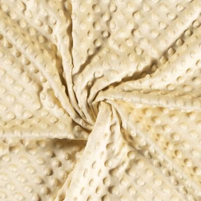Tissu Polaire Minky Doux À Pois Aigue-jaune clair