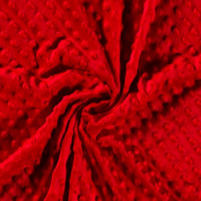 Tissu Minky Doux À Pois rouge