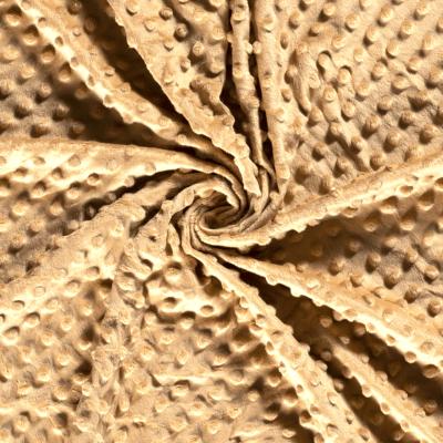 Tissu Polaire Minky Doux couleur camel