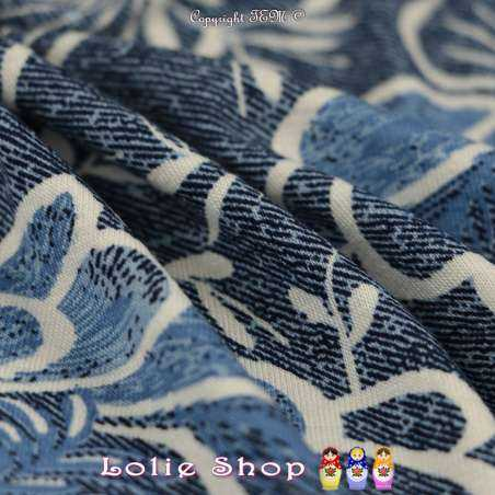 Jersey Viscose Imprimé Modèle MONA Ton Bleu