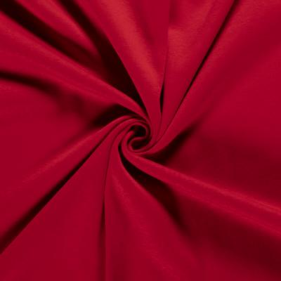 Tissu Sweat Epais Couleur rouge envers Molletonné