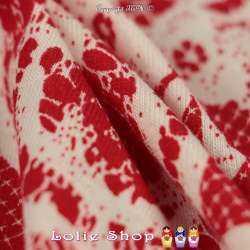Jersey Viscose Imprimé Modèle CORALIE Ton Rouge