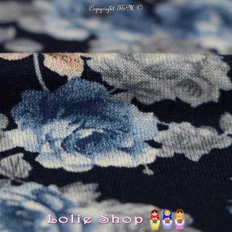 Jersey Viscose Imprimé Modèle SORENZA Ton Bleu