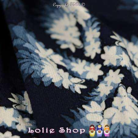 Jersey Viscose Imprimé Modèle LOUISA Ton Bleu