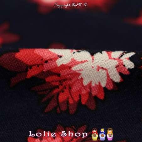 Jersey Viscose Imprimé Modèle LOUISA Ton Rouge