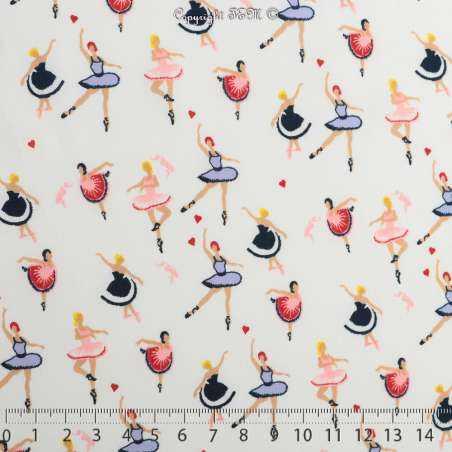 Microfibre Élasthanne Imprimé Motif Ballerines - Photo 15x15 Cm