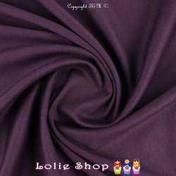 Maille Jersey Milano Uni Couleur Prune