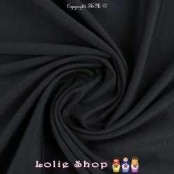 Maille Jersey Milano Uni Couleur Faux Noir