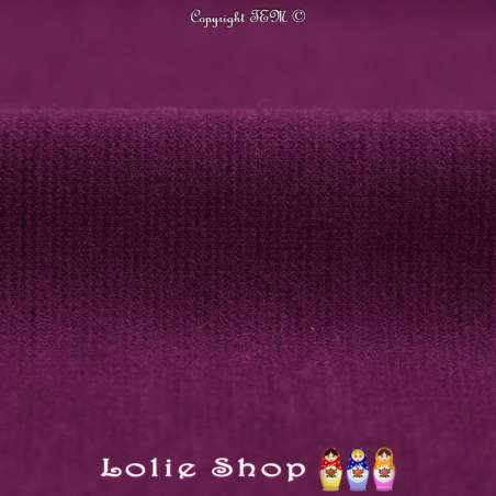 Maille Jersey Milano Uni Couleur Violet
