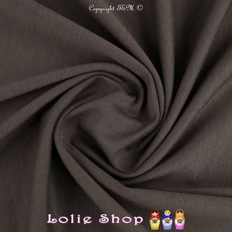 Maille Jersey Milano Uni Couleur Gris de Maure