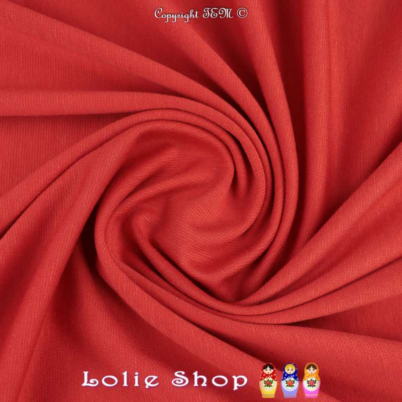 Maille Jersey Milano Uni Couleur Rouge Corail