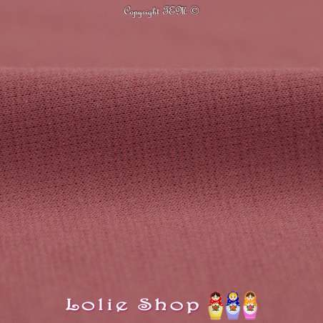 Maille Jersey Milano Uni Couleur Vieux Rose