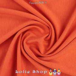 Maille Jersey Milano Uni Couleur Orange Carotte