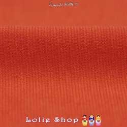 Maille Jersey Milano Uni Couleur Orange Carotte
