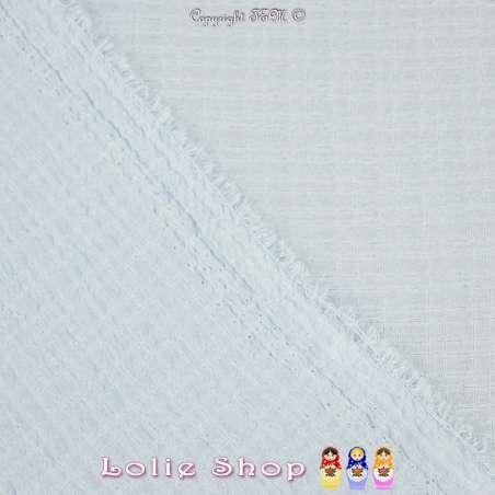 Tissu Gaze Polyester Couleur Bleu Ciel