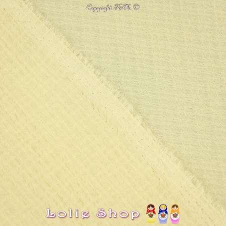 Tissu Gaze Polyester Couleur Jaune