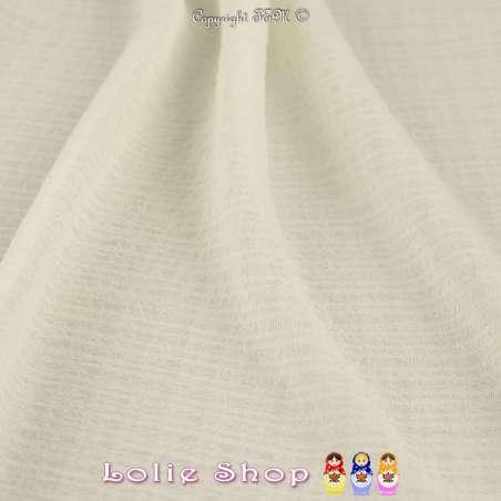 Tissu Gaze Polyester Couleur Blanc Écru