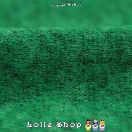 Jersey Sweat Chiné Gamme BLOOM Couleur Vert Brésil