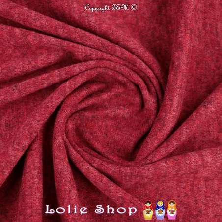 Jersey Sweat Chiné Gamme BLOOM Couleur Rouge Turc