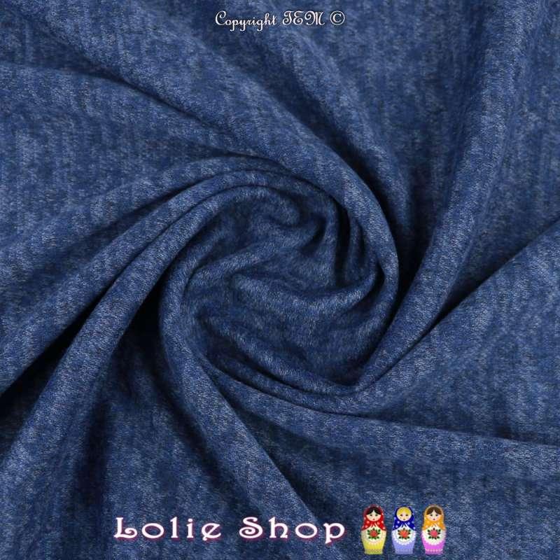 Jersey Sweat Chiné Gamme BLOOM Couleur Bleu Roi