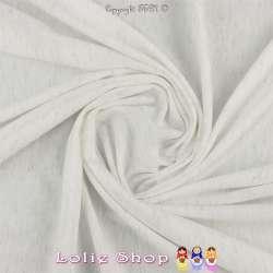 Jersey Couleur Blanc Cassé Chiné Lurex