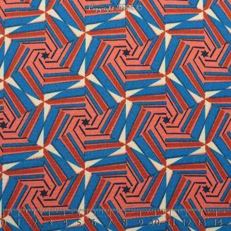 Microfibre Imprimée Motifs Thème Ethnique Ton Bleu - Photo 15x15 Cm