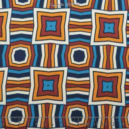 Microfibre Imprimée Motifs Losange Multicolore Satiné
