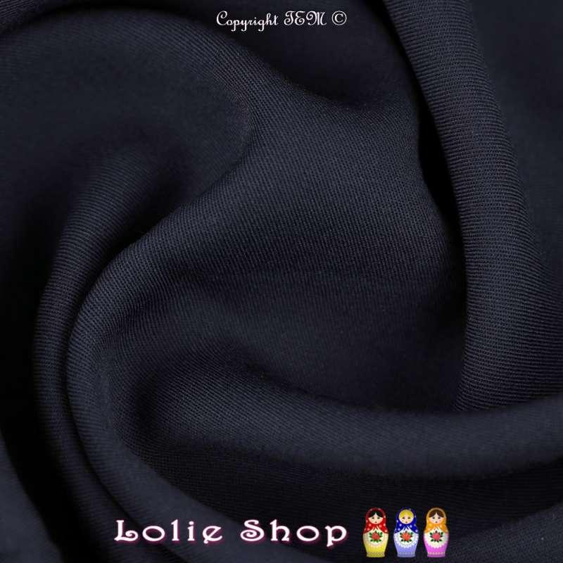 Tissu Voile Viscose Uni Couleur Bleu Marine