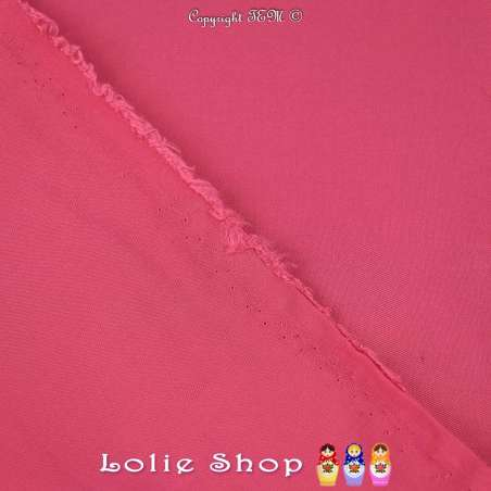 Tissu Voile Viscose Uni Couleur Fuchsia