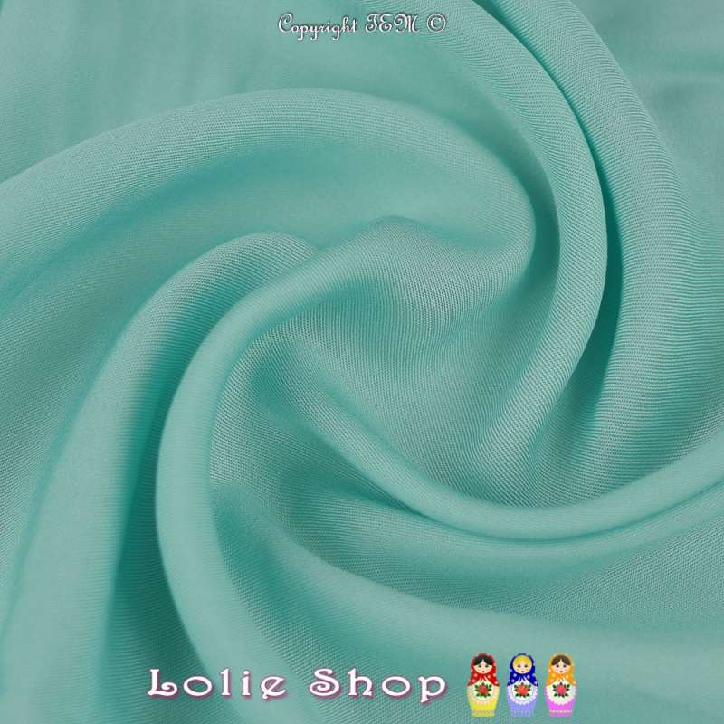 Tissu Voile Viscose Uni Turquoise