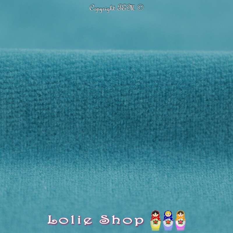 Velours Bébé Ultra Doux Couleur Bleu Mer
