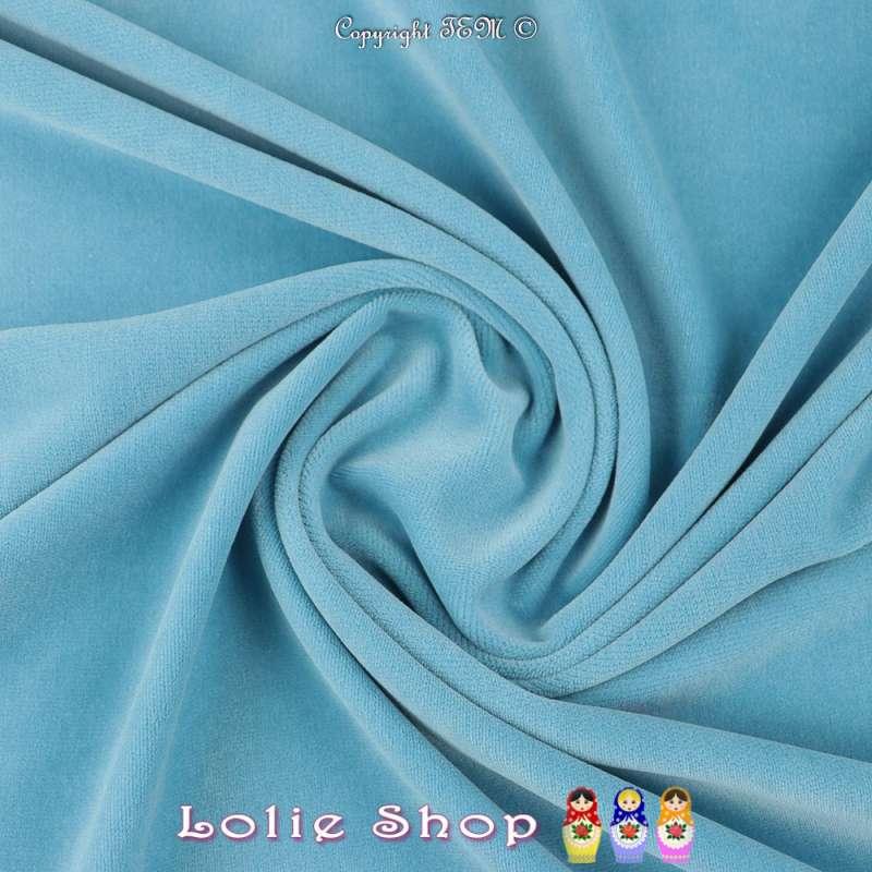 Velours Bébé Ultra Doux Couleur Bleu Maya