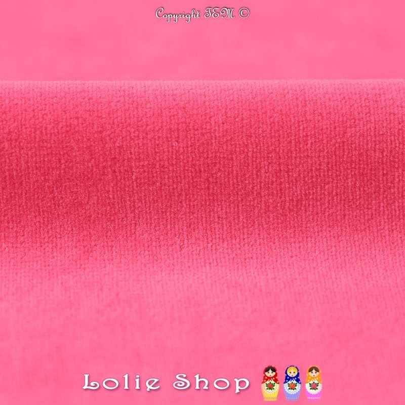Velours Bébé Ultra Doux Couleur Pink Fiesta