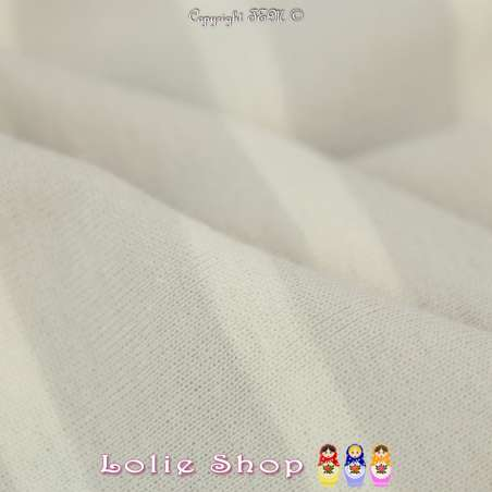 Jersey Coton Imprimé Motif Rayures Écru Sur Fond Gris/Beige