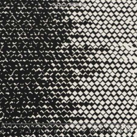 Jersey Cristal Motif Imprimé Motif Graphiques Noir Et Blanc