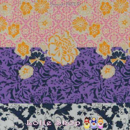 Tissu Voile De Coton Imprimé Motif Fleurs