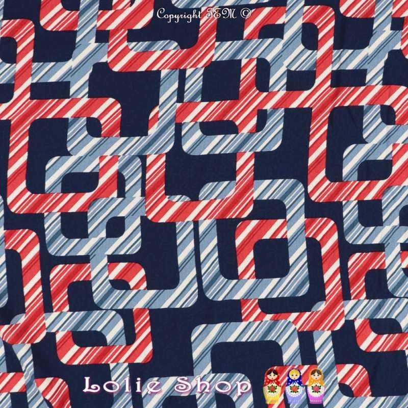 Jersey Viscose Imprimé Modèle PACMAN Motif Graphique Ton Rouge