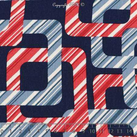 Jersey Viscose Imprimé Modèle PACMAN Motif Graphique Ton Rouge - Photo 15x15 Cm