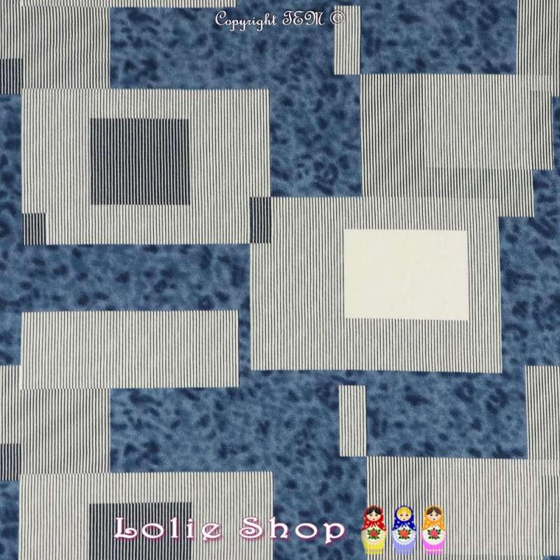 Jersey Viscose Imprimé Modèle CAMPER Motif Graphique Ton Blanc