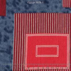 Jersey Viscose Imprimé Modèle CAMPER Motif Graphique Ton Rouge
